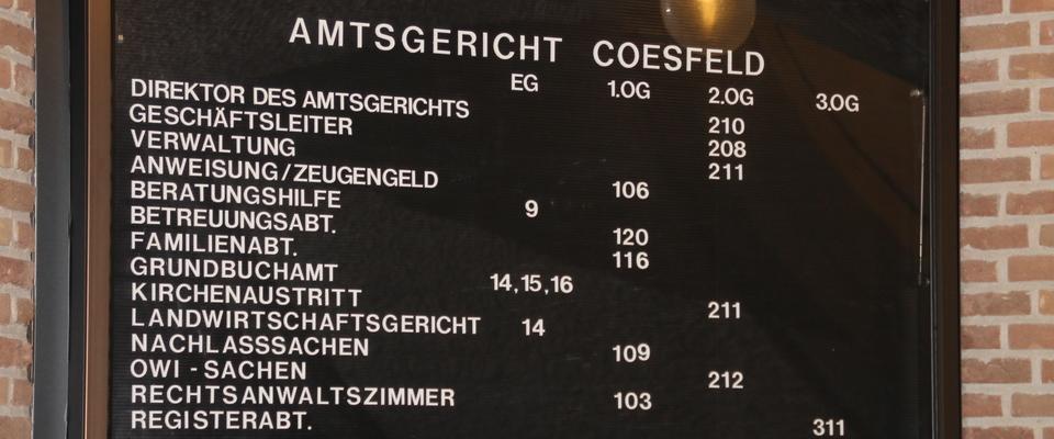 Amtsgericht Coesfeld: Was brauche ich für...